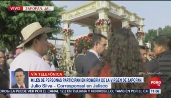Miles participan en romería de Virgen de Zapopan