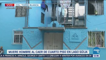Muere hombre al caer de cuarto piso en Miguel Hidalgo