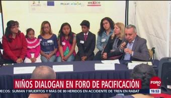 Niños Participan Foros Pacificación Violencia México