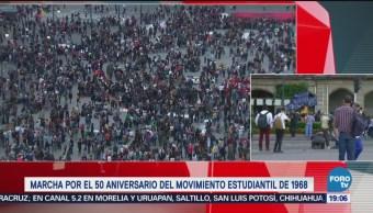 Contingentes Marcha 2 Octubre Desbordan Zócalo CDMX