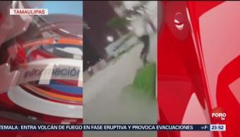 Policías Frustran Secuestro Tampico Tamaulipas Video