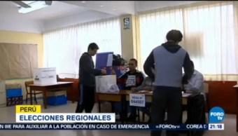 Perú Realiza Elecciones Regionales