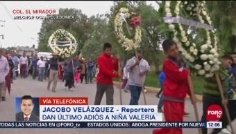 Población de Melchor Ocampo despiden a Valeria