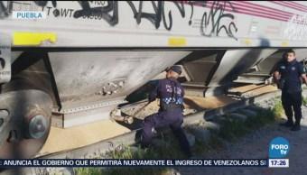 Pobladores Saquean Tren Transportaba Trigo Puebla