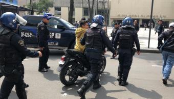 Policía CDMX detiene delincuentes en Arcos de Belén