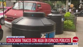 Pondrán tinacos en vía pública para abastecer agua en el corte