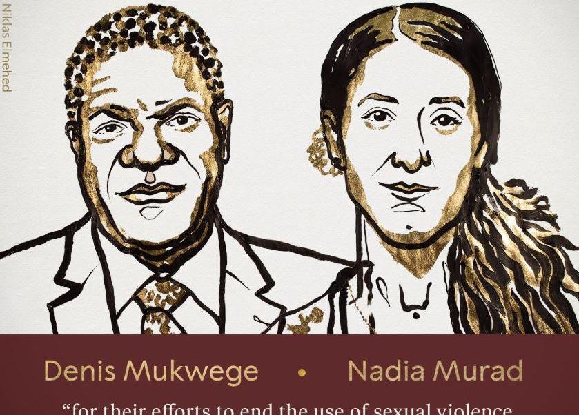 Premio Nobel De Paz 2018 Denis Mukwege y Nadia Murad