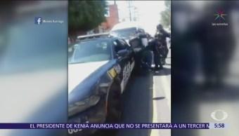 Presuntos policías agreden a chofer de transporte público en Cuernavaca, Morelos