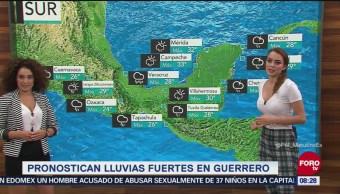 Pronostican lluvias fuertes en Guerrero