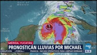 Pronostican lluvias por tormenta Michael en Yucatán