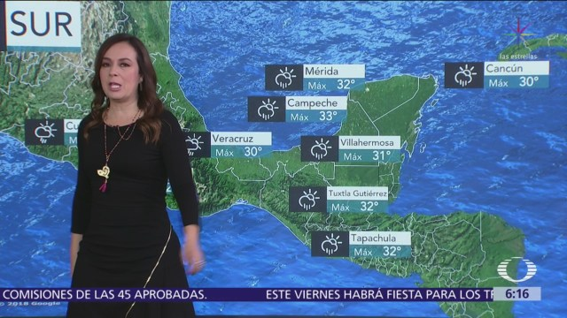 Pronostican tormentas sobre occidente, centro, sur y sureste