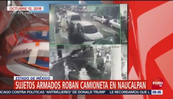 Captan Video Robo Camioneta Naucalpan