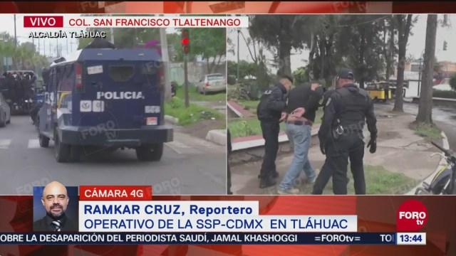 Realizan operativo para desalojar predio en Tláhuac