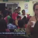 Repatrian a Honduras a 150 migrantes de la caravana
