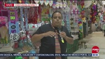 Repor entrevista comerciantes en mercado de San Pablo