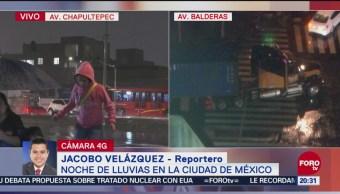 Reportan Intensa Lluvia Zona Centro Ciudad De México