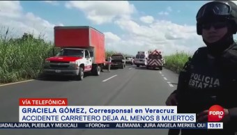 Reportan varios muertos por accidente automovilístico en Veracruz