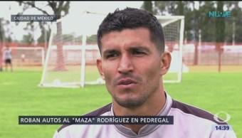 Roban 4 vehículos al futbolista Francisco 'El Maza' Rodríguez