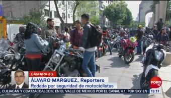 Rodada Seguridad Motocicletas Cdmx Monumento A La Revolución Santa Fe