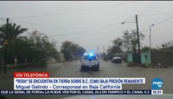 Rosa avanza sobre Baja California y provoca lluvias