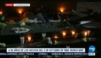 Realizan Actividades Conmemorativas Matanza Estudiantes Tlatelolco