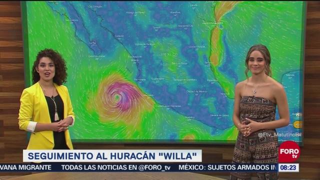 Se acercan huracán Willa y tormenta Vicente por el Pacífico