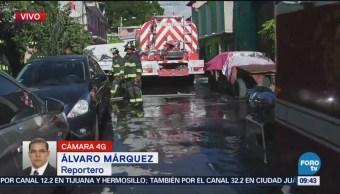 Se incendia maderería de Santa Marta Acatitla en Iztapalapa