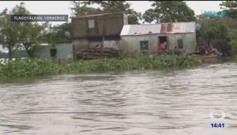 Se incrementan los daños por desborde del Papaloapan