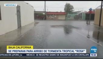 Se Intensifican Precipitaciones Baja California Tormenta Tropical Rosa