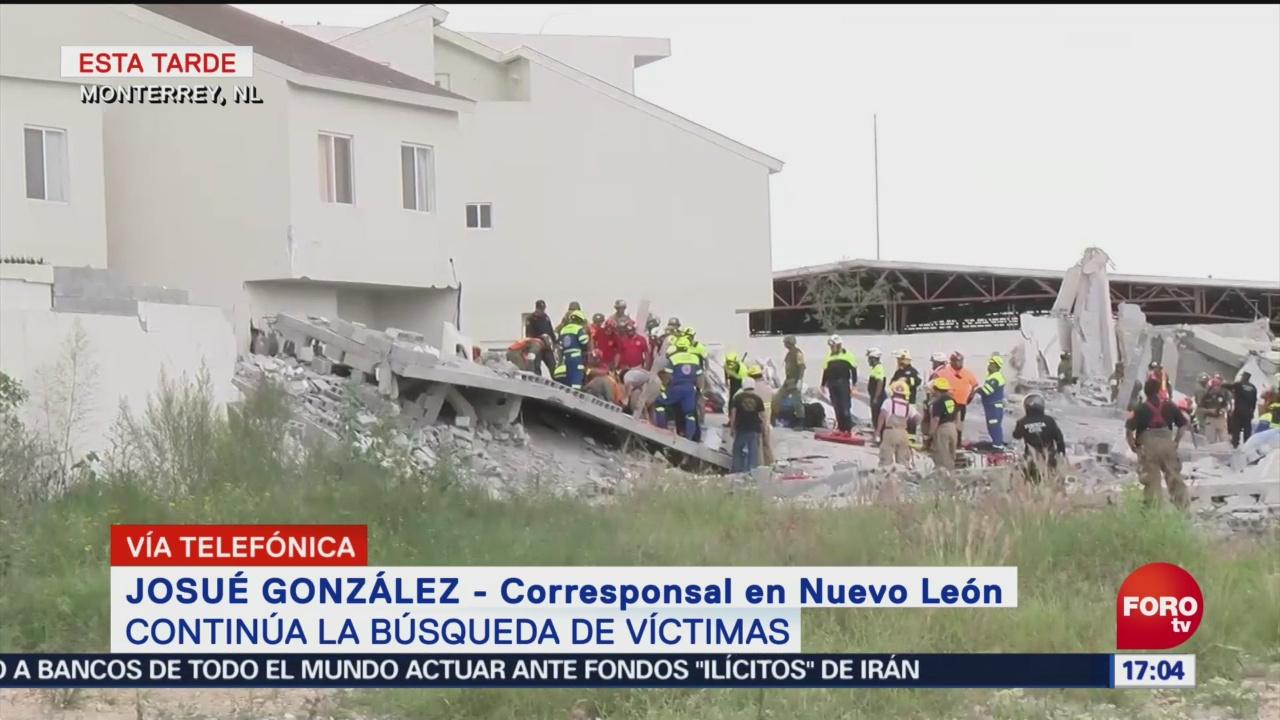 Se mantiene firme el elevador en construcción siniestrada en Monterrey