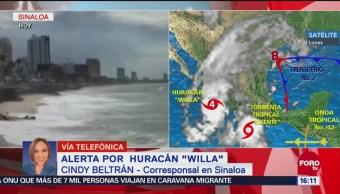 Sinaloa, en alerta máxima por el huracán Willa