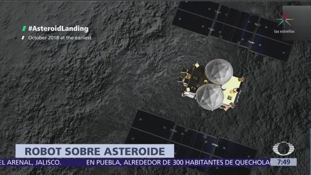 Sonda Mascot se posa en el asteroide Ryugu