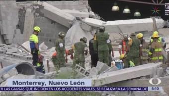 Suman 7 muertos por derrumbe en Monterrey, Nuevo León