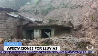 Suman 7 personas por lluvias del frente frío 6 en Oaxaca