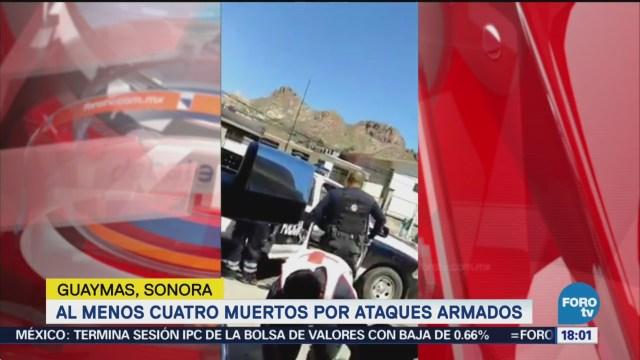 Tiroteos en Guaymas, Sonora, dejan cuatro muertos
