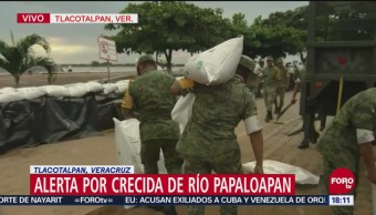 Tlacotalpan, en alerta por la crecida del Papaloapan