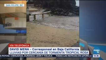 Tormenta 'Rosa' provoca alerta roja en San Felipe, Baja California