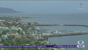 Tormenta Sergio azota Laguna de San Ignacio