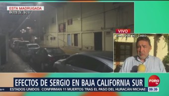 Tormenta Sergio causa lluvias en Baja California Sur