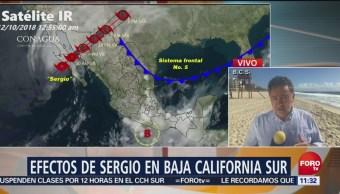 Tormenta Sergio provoca encharcamientos en Baja California Sur