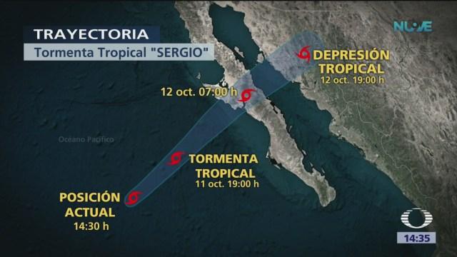 Tormenta 'Sergio' se dirige a Baja California
