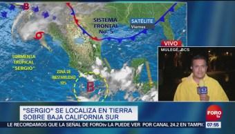 Tormenta 'Sergio' toca tierra en la laguna de San Ignacio