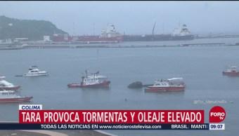 Tormenta tropical 'Tara' provoca lluvias y oleaje elevado en Colima