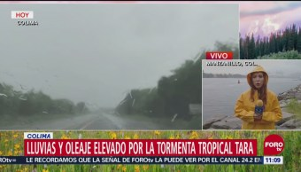 Tormenta tropical Tara toca tierra en Manzanillo, Colima