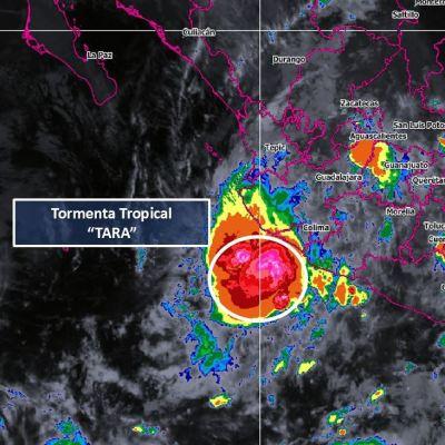 Se forma tormenta tropical 'Tara' frente a costas de Colima y Michoacán