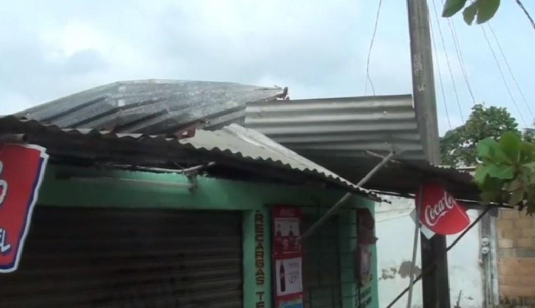 Tornado afecta Estero del Pantano en Cosoleacaque, Veracruz
