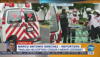 Trasladan en helicóptero a niño atropellado en Cuautepec