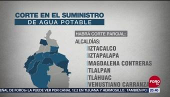 Trece Alcaldías Cdmx Afectadas Corte Agua