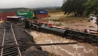 Clima Morelia; lluvias provocan descarrilamiento de tren