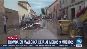 Tromba en Mallorca, España, deja al menos 9 muertos